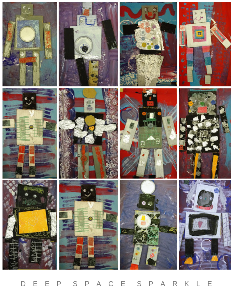 Kinder Robots Art Lesson Gallery