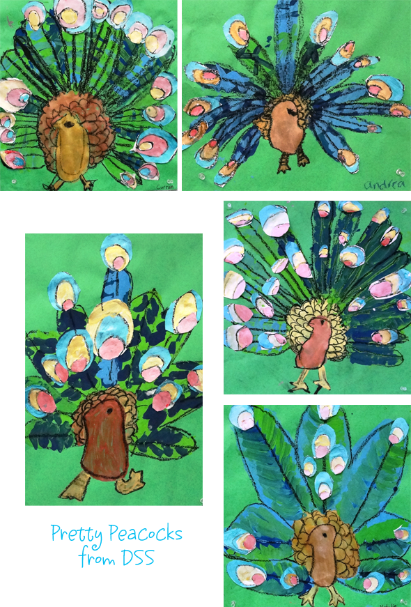 craft ideas for 1st graders peacock project for grade space sparkle 6121