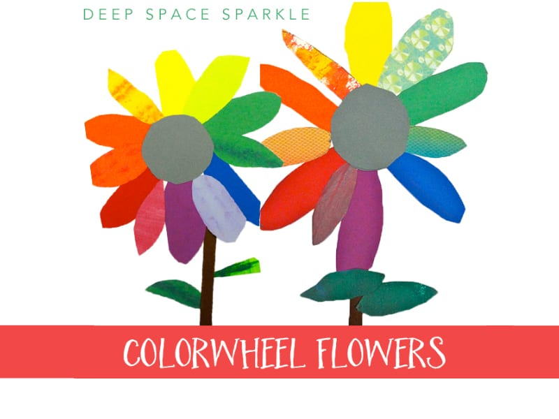 colorwheel bouquet art lesson deep space sparkle