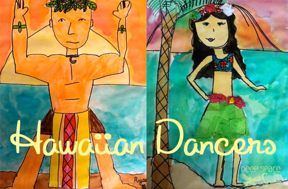 Hawaiian Dancers Art Project