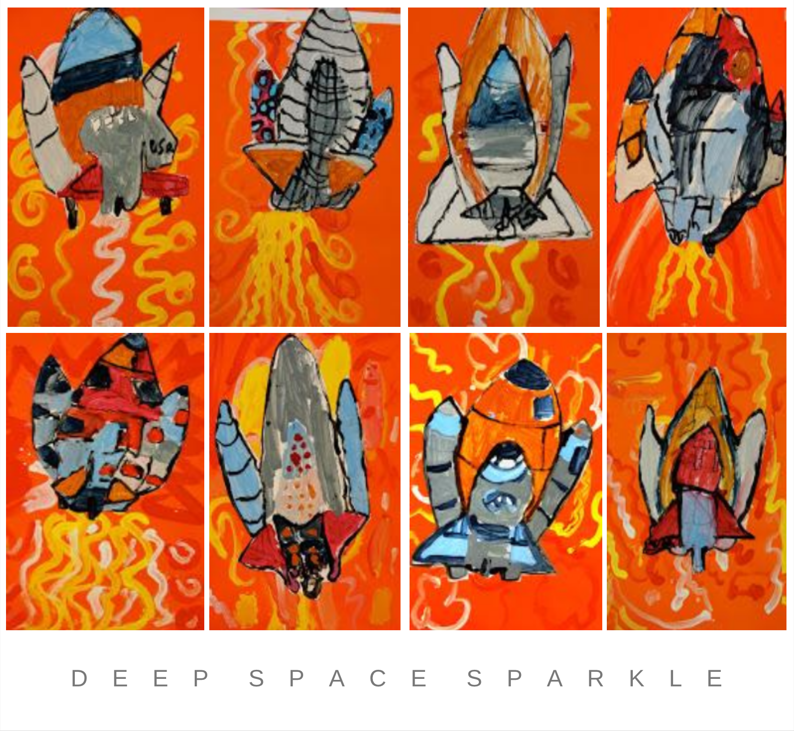 Space and Rocket Art Lesson and Gallery