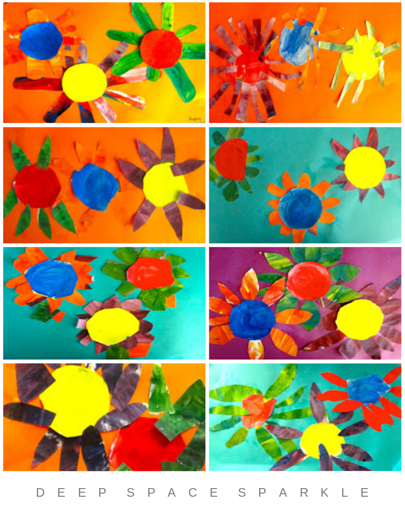 Colorwheel Flowers Collage Gallery