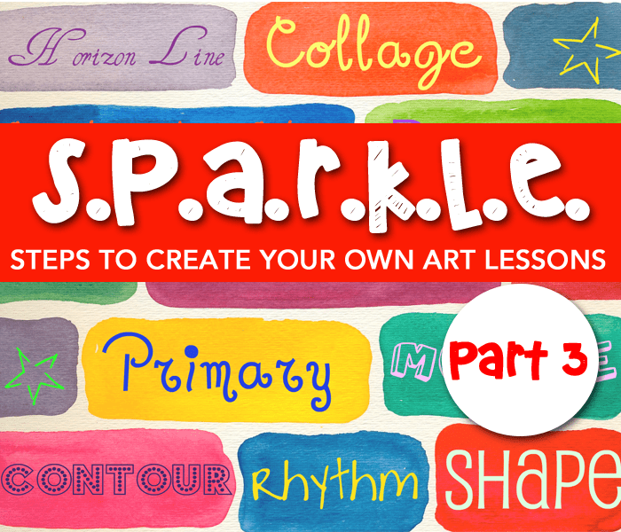 Steps to create your own art lessons by Deep Space Sparkle