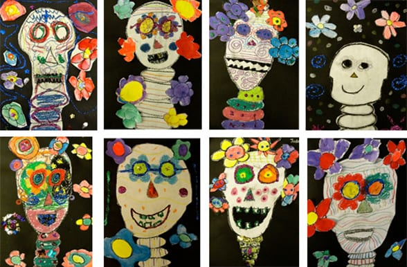 Sugar Skulls Art Lesson Dia De Los Muertos Day Of The Dead
