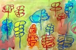 Watercolor Leaves Art Lesson