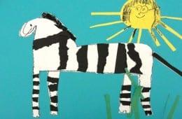 Torn Paper Zebras Art Lesson