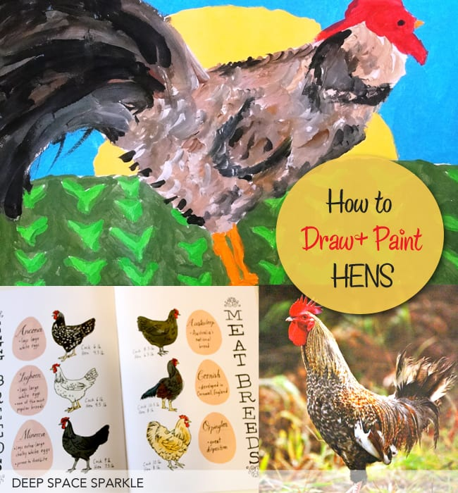 How-to-draw-and-paint-a-chicken