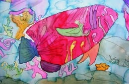 Watercolor Fish Art Project