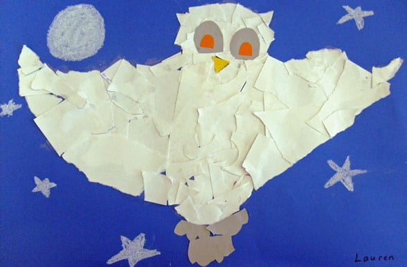 snowy owl art project