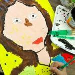 Kinder painted portraits