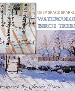 Birch Trees Watercolor Lesson