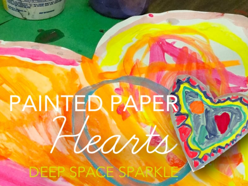 Painted Paper Hearts
