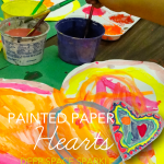 Painted Paper Hearts: quick and easy craft project for Valentine's Day or anytime