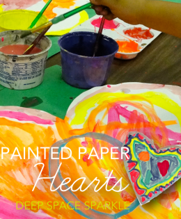Painted Paper Hearts Art Project