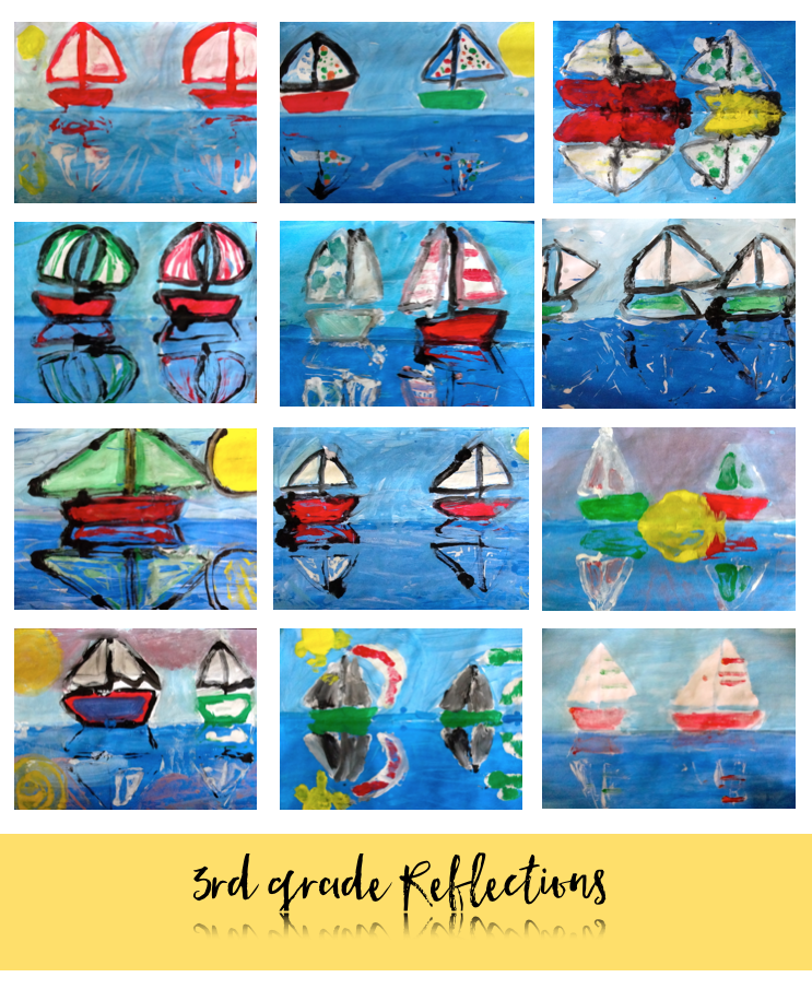 Monet's Impressionism Reflection Sailboats
