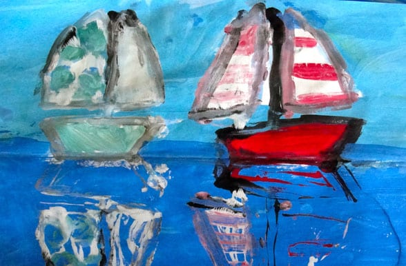 Sailboat Monotype Art Lesson