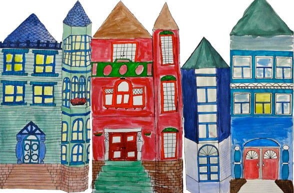 Painted victorian homes art lessons deep space sparkle for How to build a victorian house