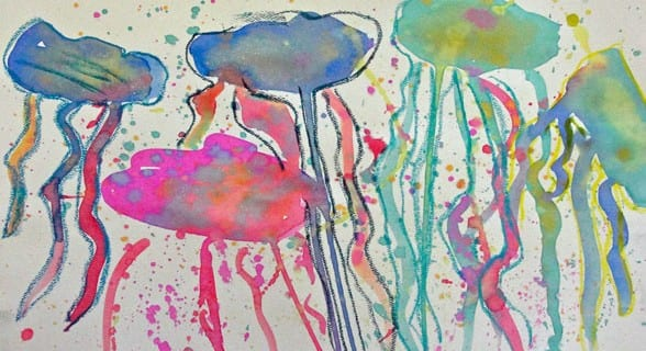 Watercolor Jelly Fish Art Video