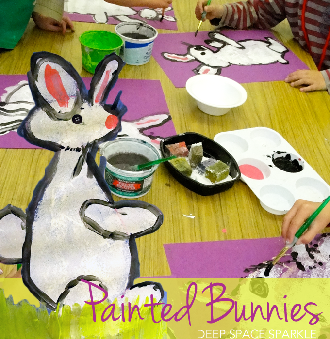 Painted Bunny Art Lesson Deep Space Sparkle