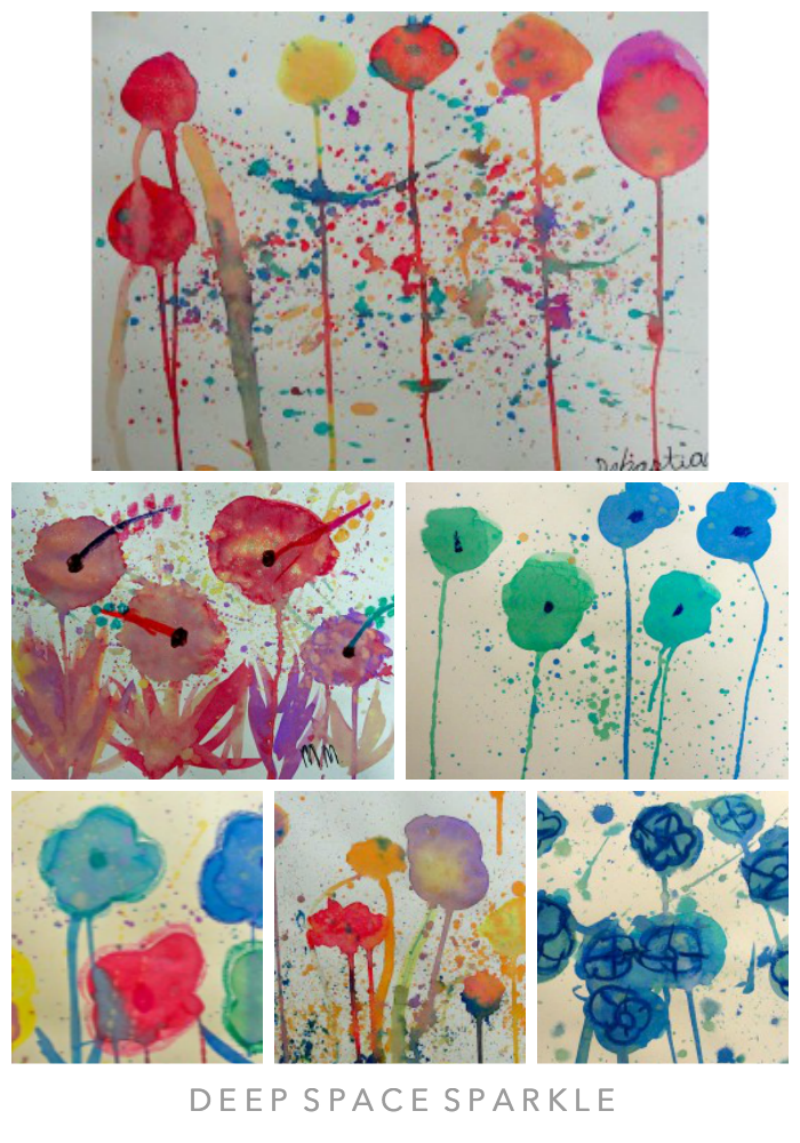 Watercolor Poppy Art Lesson Gallery