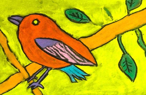 Chalk bird art project deep space sparkle for Birds project