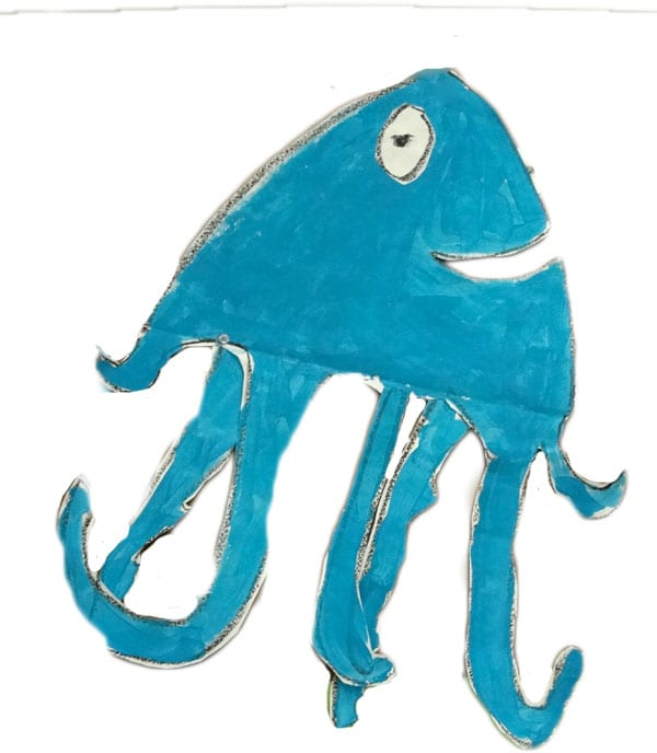 Drawing a squid