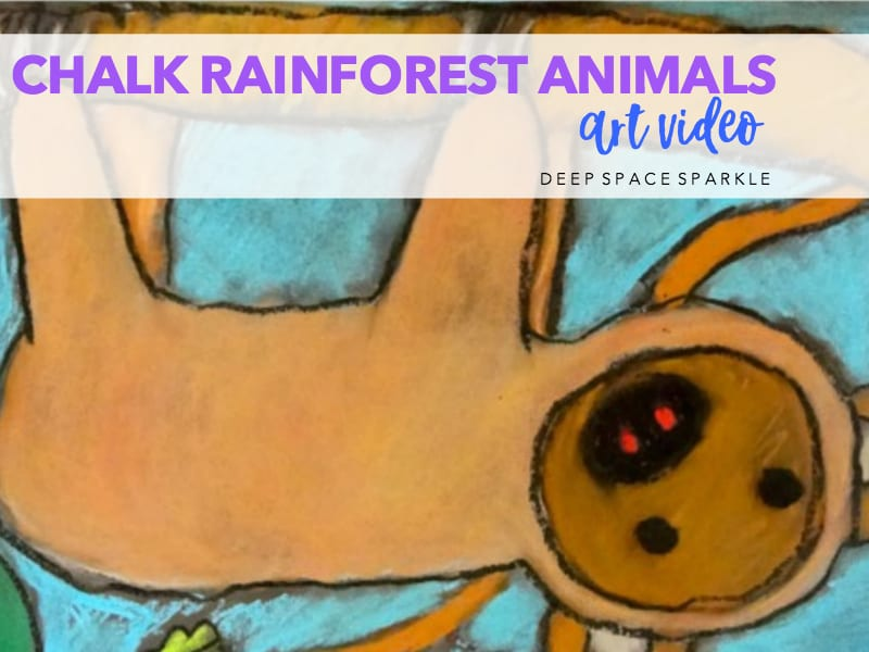 Chalk Rainforest Animals Art Video