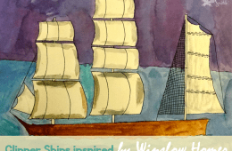 Watercolor Clipper Ships Art Lesson