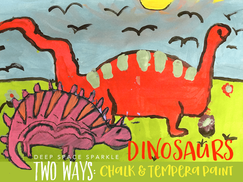 How to Draw & Paint a Dinosaur: art projects for Kids