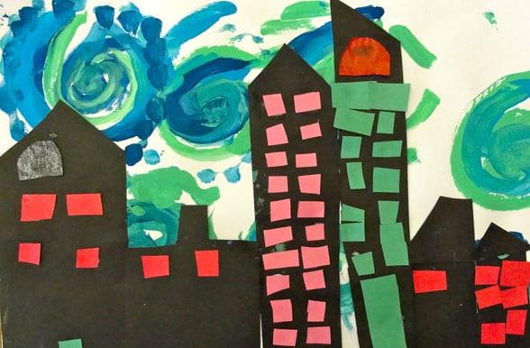Van Gogh Style Cityscape