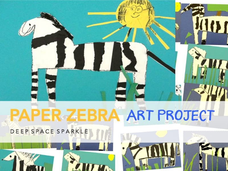 Paper Zebra Art Project