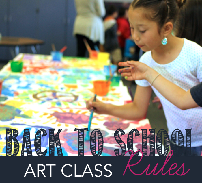 Tips for establishing rules for your first art class