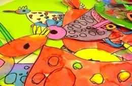 "Watercolor ""Shape"" Birds for Kinder"