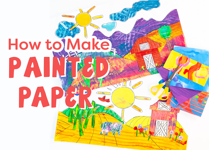 how to make painted paper in your classroom art room