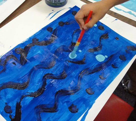 How to Make Painted Paper Deep Space Sparkle