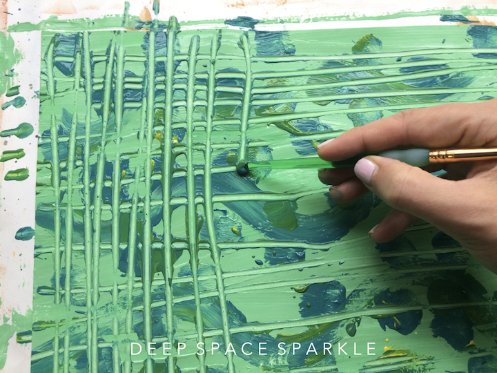 howt to make painted paper with your classroom of students in the art room