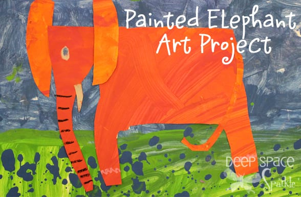 Painted-Elephant-art-lesson