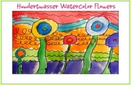 Hundertwasser Watercolor Art Project