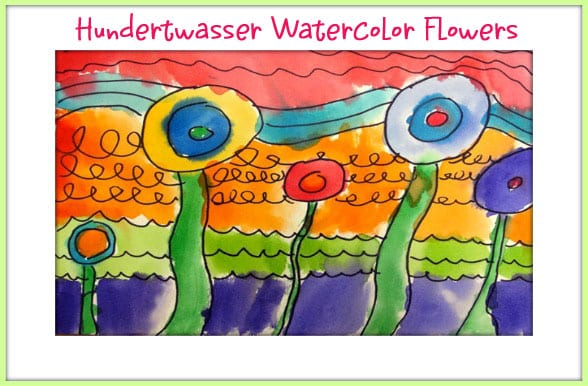 Hundertwasser watercolor art