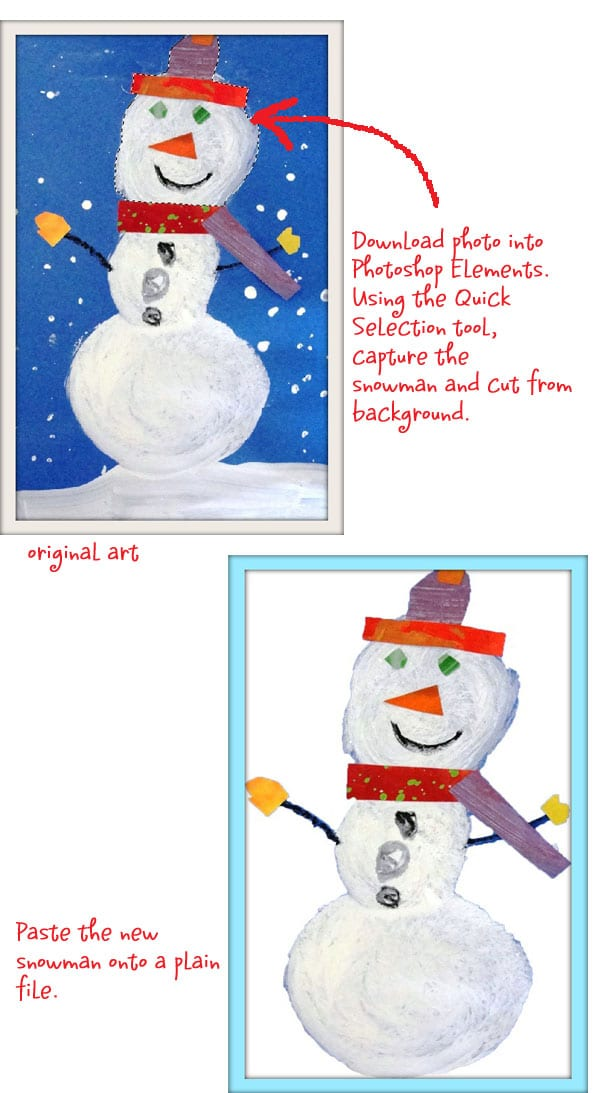 Turn your child's artwork into gift tags