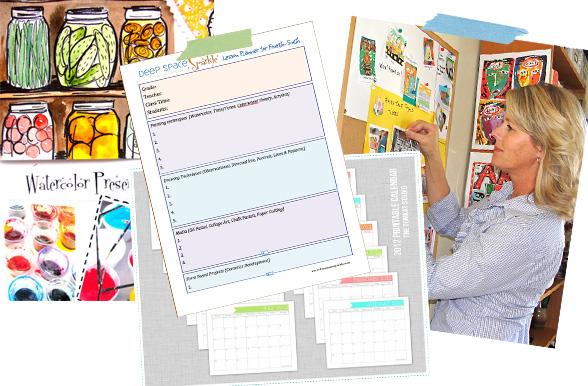 Art Teacher Calendar : The organized art teacher lesson planning deep space