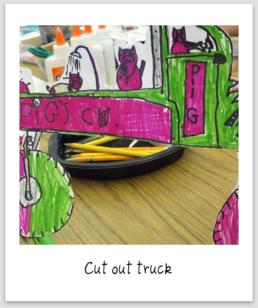Cut out truck, step 2- how to draw a truck