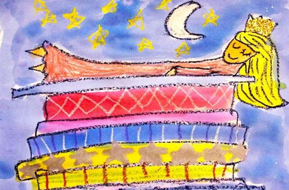 Princess and the Pea Art Lesson