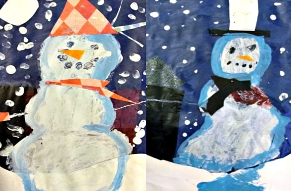 Snowman Christmas Art Projects For Toddlers