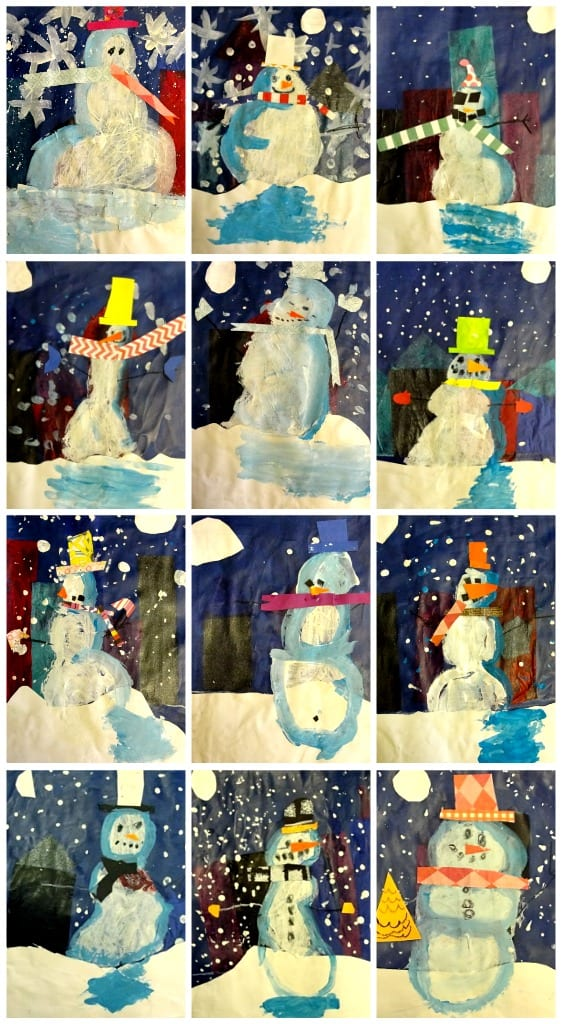 Snowmen At Night Art Project Deep Space Sparkle