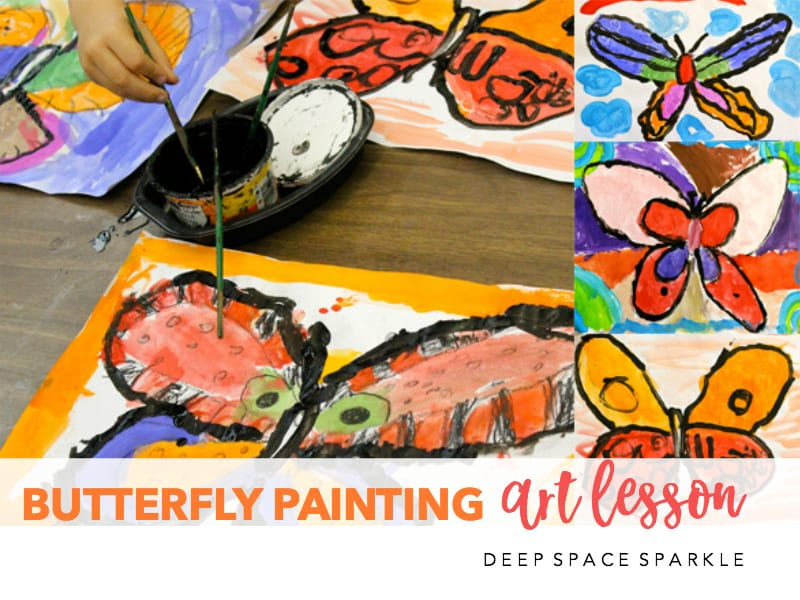 Butterfly Painting Art Lesson