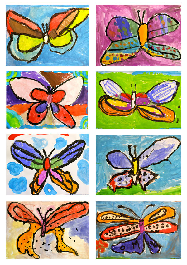 Butterfly Painting Art Lesson Deep Space Sparkle
