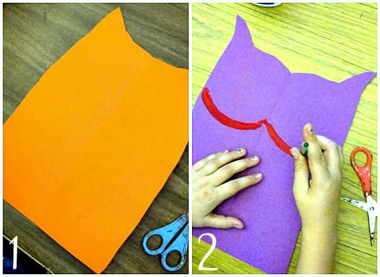 Outlining the Laurel Burch cat shapes