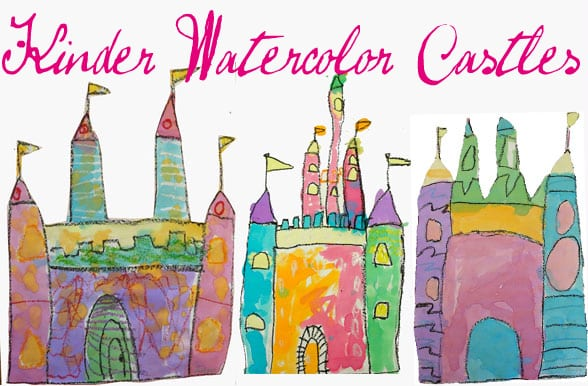Watercolor Castle Art Project