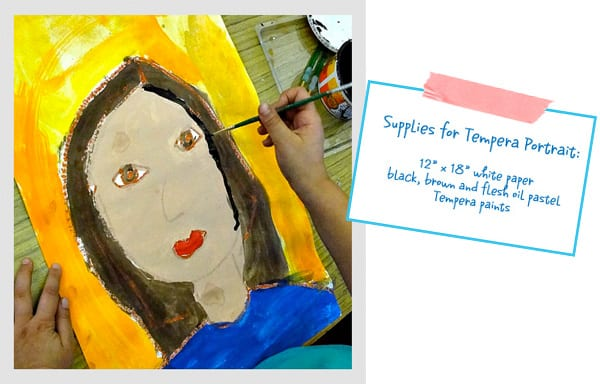 The Primary Portrait Project: Tempera Paint